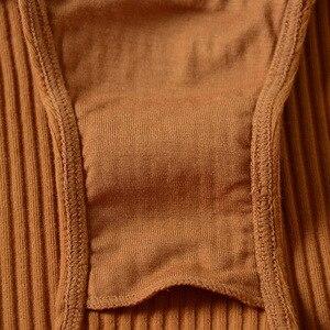 Image 5 - 5 màu sắc 95% cotton áo ngực và eo cao panty phụ nữ sexy intimates Pháp sọc liền mạch nữ thoải mái đồ lót bộ áo ngực