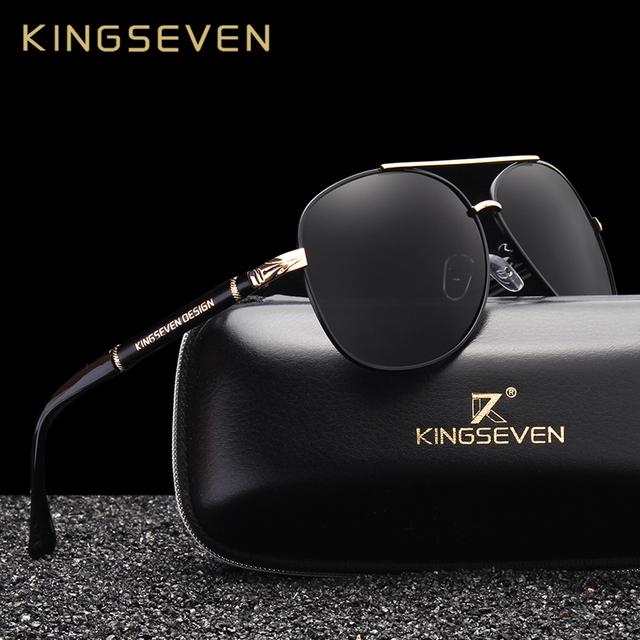 7c08fc0298a KINGSEVEN Design Brand New Aluminum Sunglasses Men Polarized Lens Vintage  Sun Glasses For Men UV400 Driving Goggles Eyewear