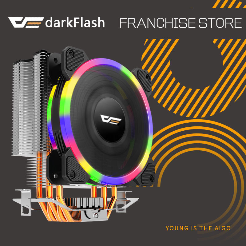 Darkflash L5 CPU kühler Kühlung TDP 280 W 5 heatpipes 4 p PWM LED 120mm lüfter Kühler kühlkörper LGA 2011/115X/775/1366/AM2 +/AM3 +/AM4