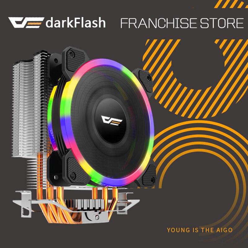 Darkflash L5 CPU kühler Kühlung TDP 280 watt 5 heatpipes 4 p PWM LED 120mm lüfter Kühler kühlkörper LGA 2011/115X/775/1366/AM2 +/AM3 +/AM4
