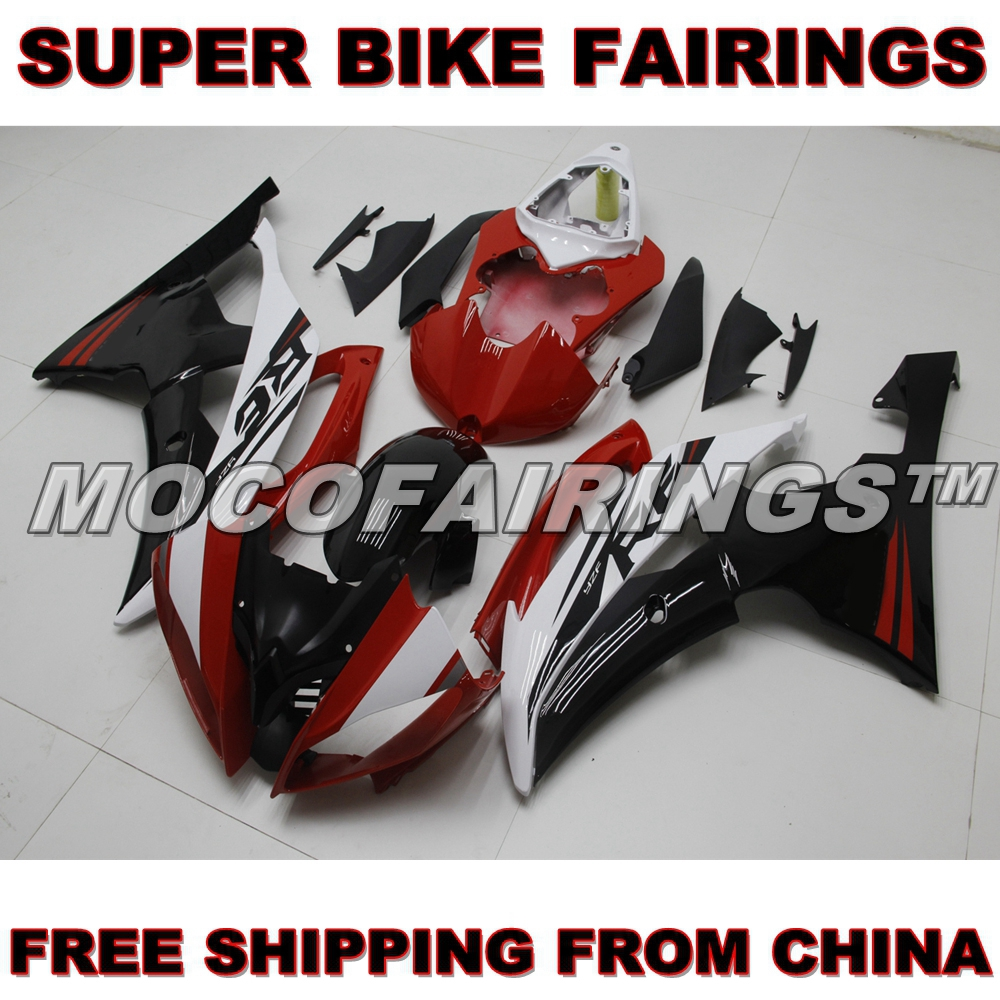 FREE SHIPPING ABS Motorbike 2008-2014 YZF R6 Fairings Kits For Yamaha 08-14 YZF-R6 Injection Fairing Body Cover RED BLACK WHITE motorcycle fairings kits for yamaha yzf600 yzf 600 r6 yzf r6 2008 2014 08 14 abs injection fairing bodywork kit red black a40