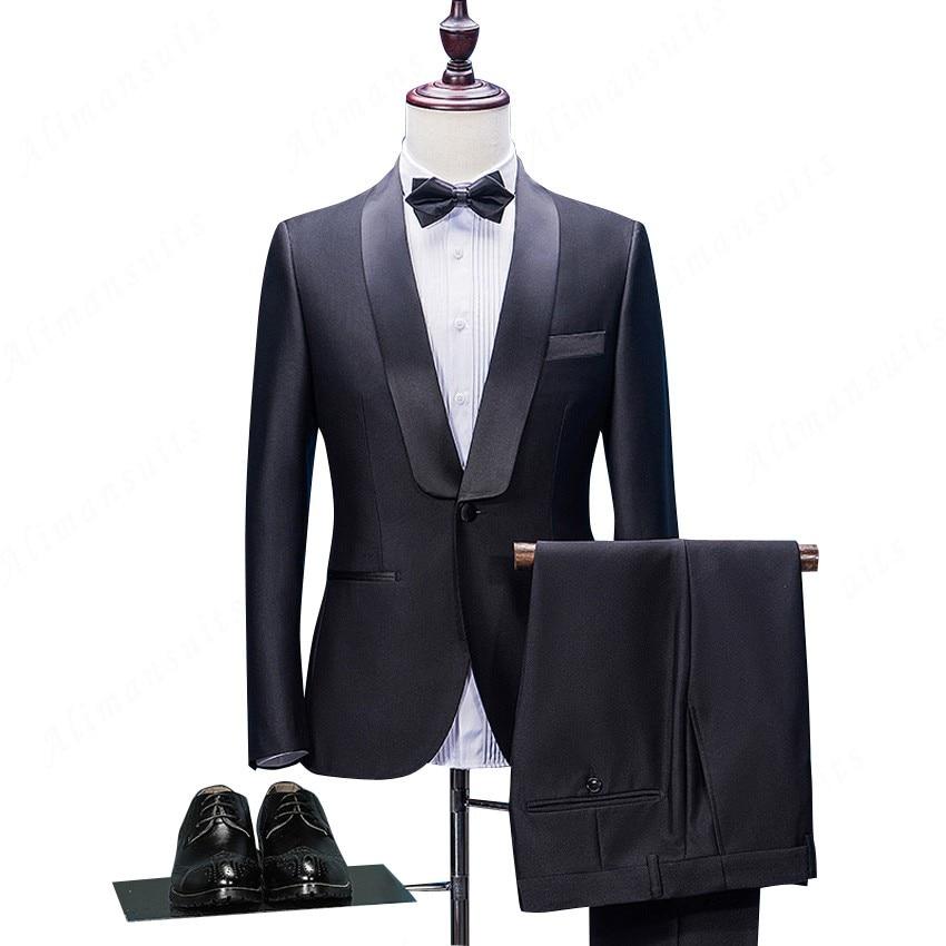 Pour Robe Costume Hommes Bal veste Slim Masculino Homme Nouveau Smoking Mariage Fit Mâle Partie De Marié Pantalon Costumes Ternos 7XHqanwa
