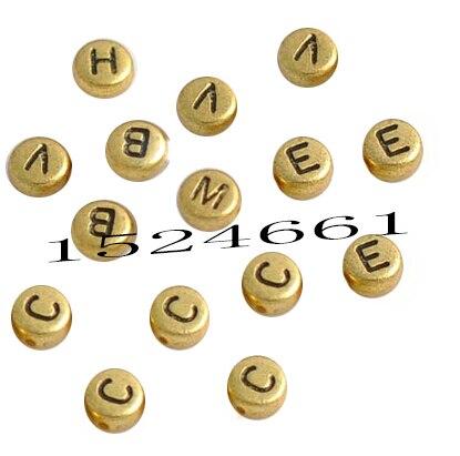 FLTMRH 30 шт. мм 7 мм смешанный Алфавит/буква акриловые разделительные бусины квадратный/круглый Алфавит цифровой/буквенный бисер акриловый куб