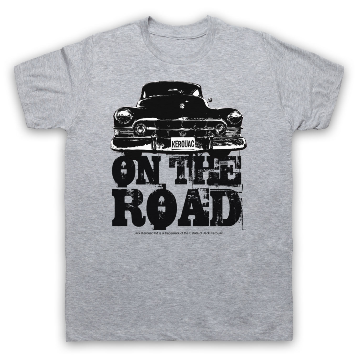 CADDY ON THE ROAD JACK KEROUAC UNOFFICIAL BEAT BOOK T-SHIRT ADULTS & KIDS SIZES