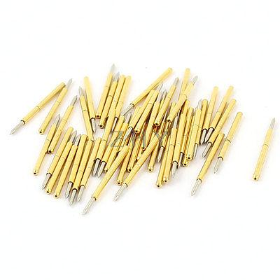 50 Pieces P75-B1 0.74mm Spear Tip Spring PCB Testing Contact Probes Pin