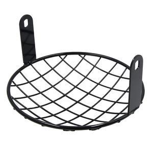 Image 3 - Uxcell 7.8 polegada preto metal farol malha grill motocicleta grade capa para harley