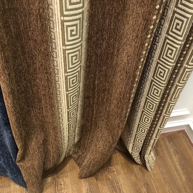 High-grade Thick Curtains For Living Room Bedroom Blackout Chinese Striped Chenille Curtain Kitchen Window Children's Room