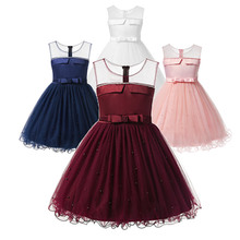 цены Children Party Dresses Night Dress For Girls Prom Costumes Dress To Wedding Frocks Flower Girl Red Short Clothing Summer Clothes