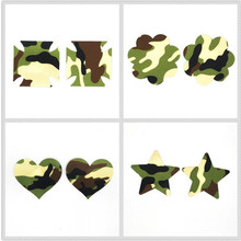 Free shipping Sexy experience 50 pairs (100Pcs) / Camouflage Pasties Nipple Covers 5colors