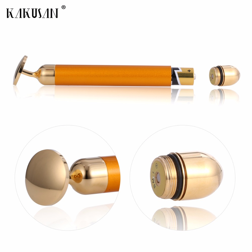24k gold beauty bar face skin care tools face massage roller facial massage roller facial roller massage skin care wrinkle treatment magic ion beauty wand face massager beauty care machine