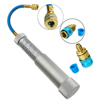 Oil & Dye Syringe 1/4 inch Sae R134A 2Oz Manual Oiler Automotive Air Conditioning Coolant Filling Tube Injection Tool