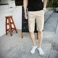 2016 summer new men's minimalist solid color cotton  shorts wild  leisure shorts 6 colors size M-5XL tide