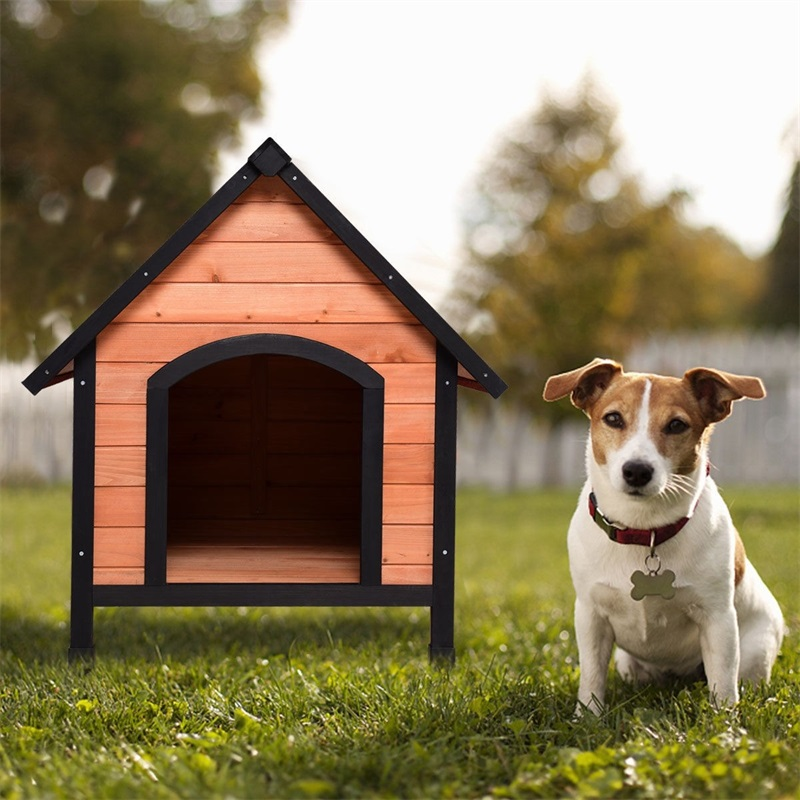 <font><b>Outdoor</b></font> Indoor Wooden Pet Room Shelter <font><b>House</b></font> <font><b>Dog</b></font> Puppy Pet <font><b>House</b></font> Kennel Wooden Room PS7055 image