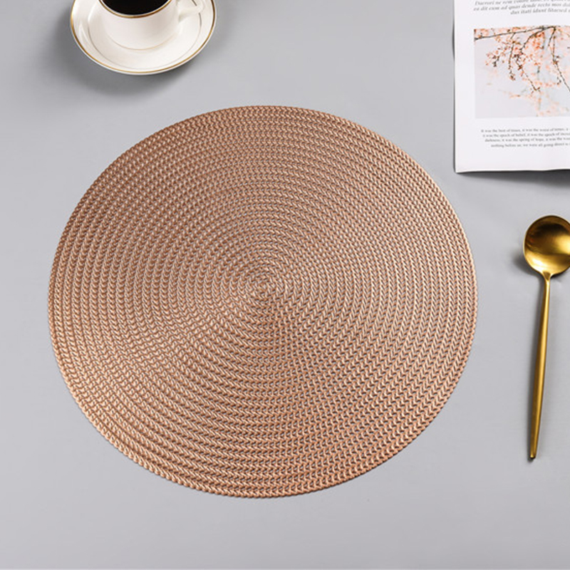 Round PVC Anti-scalding Insulation Placemat 7