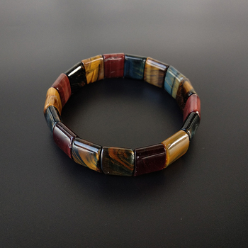 BOEYCJR Colorful Tiger Eyes Natural Stone Beads Bangles & Bracelets Handmade Jewelry 1