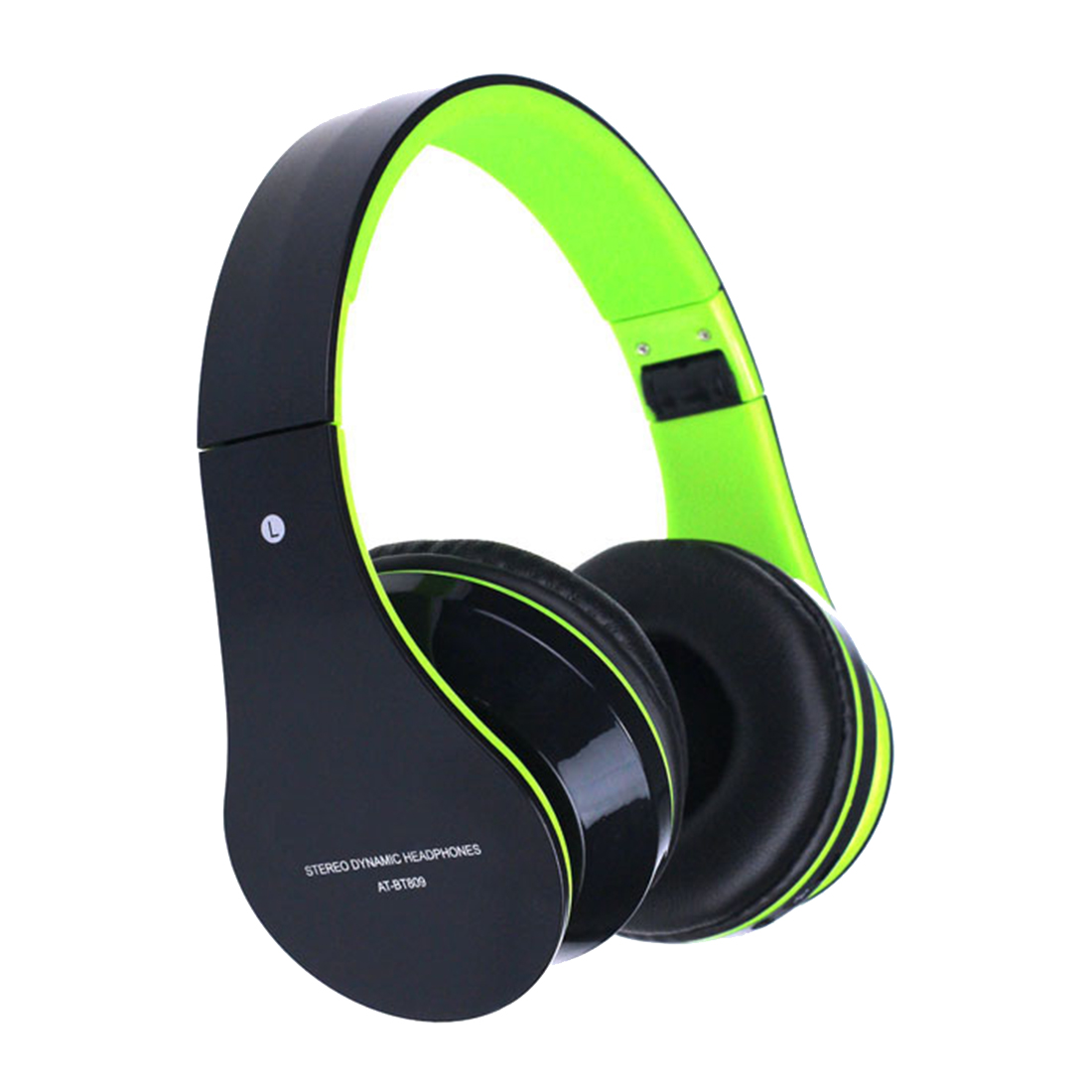Foldable Wireless Bluetooth Stereo Headset Headphones Mic For iPhone Color:Green kz headset storage box suitable for original headphones as gift to the customer