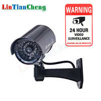 LINTIANCHENG Indoor/Outdoor Dummy Camera Bullet Waterproof CCTV With Led Miniature Fake Home Security Video Surveillance