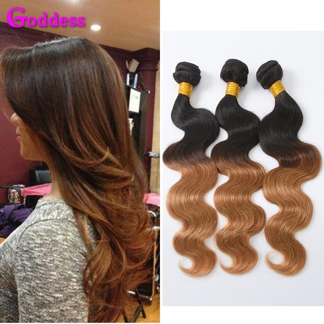 Mink Brazilian Virgin Hair Ombre Brazilian Hair 4 Bundles Brazilian Body Wave T1B27 Dark Roots Blonde Human Hair Weave Bundles