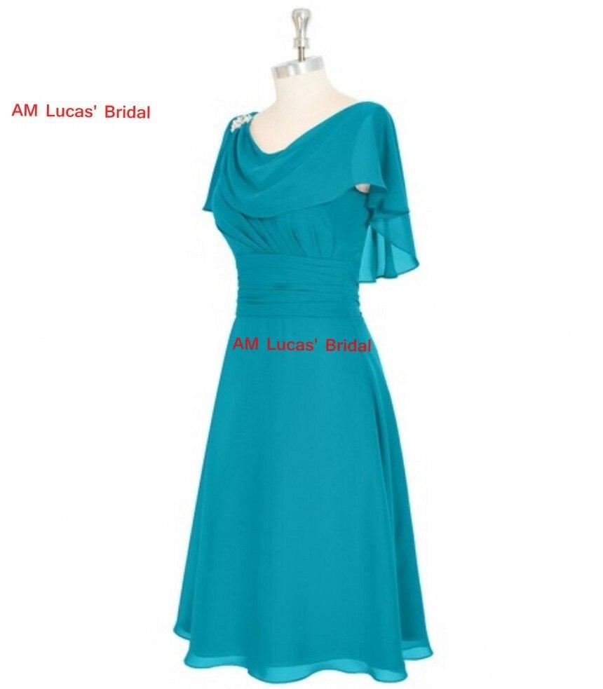 A Line Homecoming Dresses Cap Sleeve Knee Length 8th Grade Prom ...