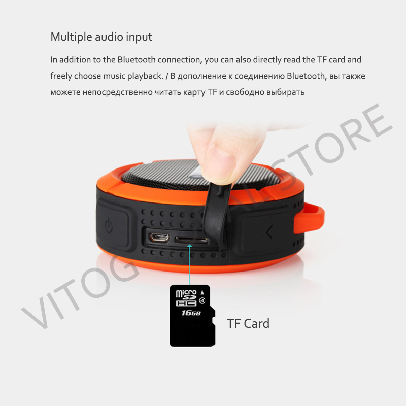 Image 3 - Bluetooth Speaker Mini Portable Waterproof Wireless Speakers Suction Cup support TF Card for iphones smart Phone outdoor speaker-in Portable Speakers from Consumer Electronics