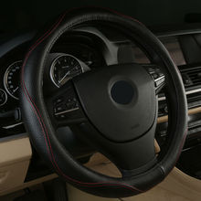 2017 Hot Sell Leather Auto Car Steering Wheel Cover Anti-catch for Ford mustang ranger s-max F-150 Raptor