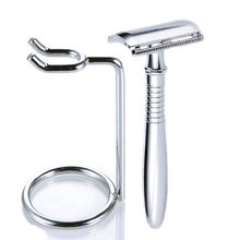 Alloy Safety Double Edge Razor Classic Manual Shaver Barber Shaving 1 + Holder +5 Blades Razors set