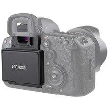 Capuz de tela lcd com cobertura pop up, para canon 5d mark iii iv 5ds 5dsr 6d 7d mark ii película de proteção de câmera