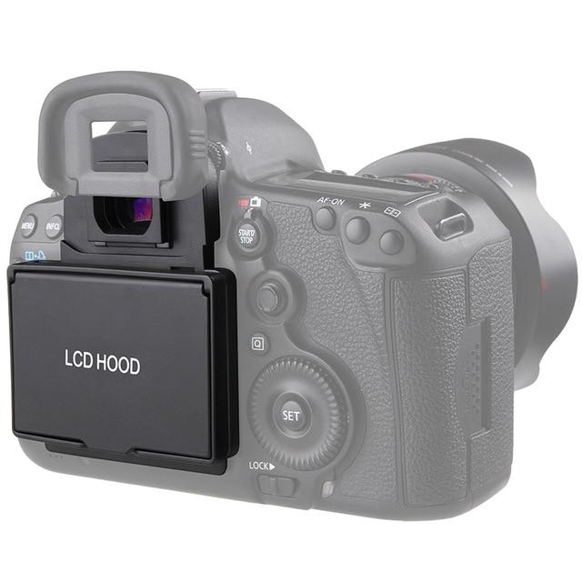 غطاء شاشة LCD مع غطاء مظلل منبثق لكاميرا كانون 5D Mark III IV 5DS 5DSR 6D 7D Mark II 1DX 1DX II 5D4