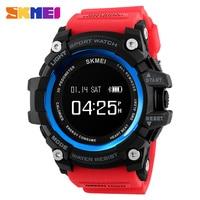 Bluetooth Mannen Smart Horloge Hartslag Sport Horloges Stappenteller Calorie oplaadbare Digitale Horloge Relogio Masculino SKMEI-in Digitale Klokken van Horloges op