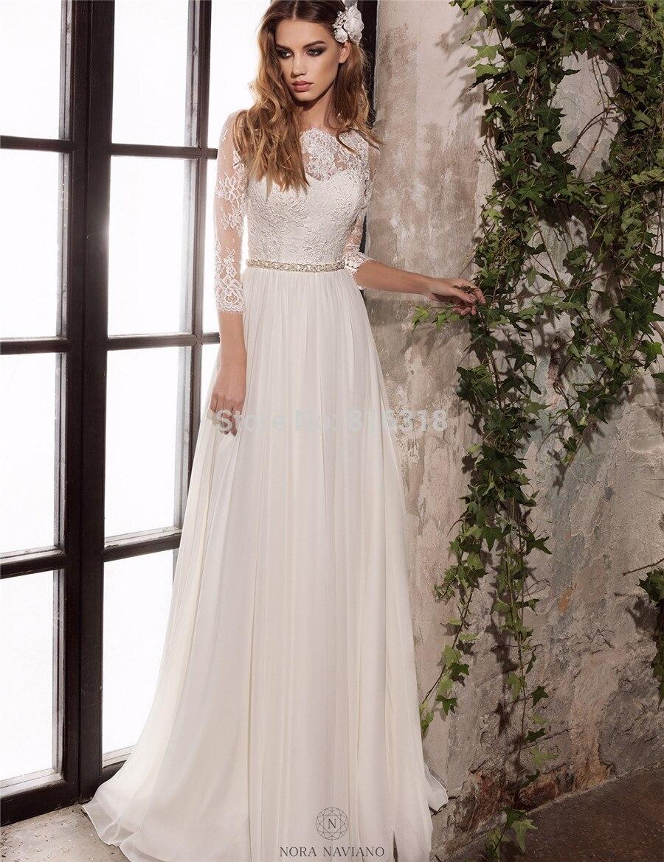 Simple Elegant Long Sleeve Wedding Dresses