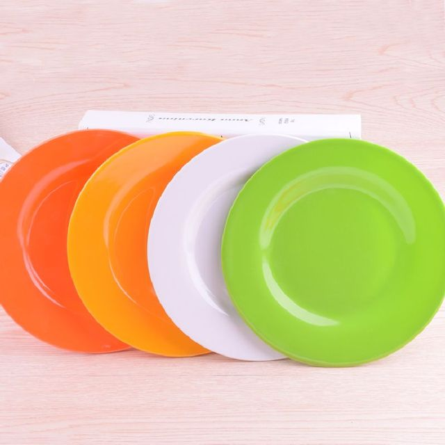 5pcs/lot 15cm-25cm 4 Colors Creative Melamine Plates Dish Plain Color Plastic Plates & 5pcs/lot 15cm 25cm 4 Colors Creative Melamine Plates Dish Plain ...