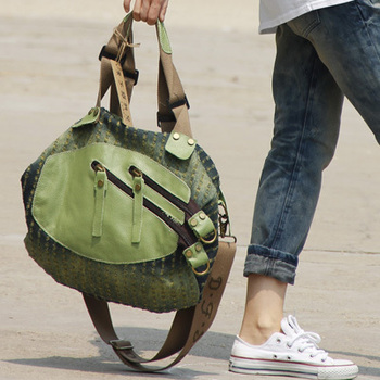 High Quality women denim bag fashion messenger bags female big handbag