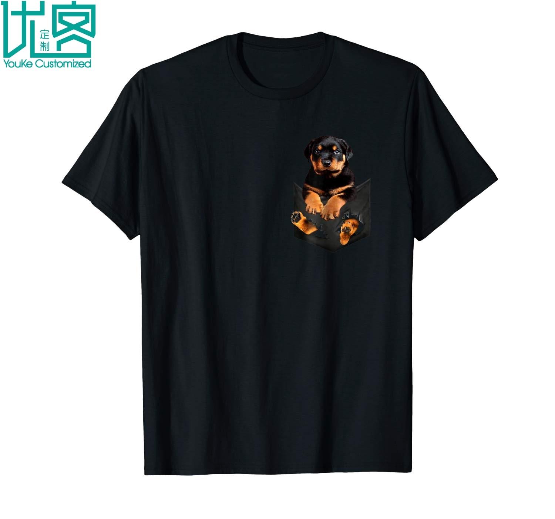 Rottweiler Pocket   T     Shirt   Dog Lover Cute Funny Gift 2019 Summer Men's Short Sleeve   T  -  Shirt