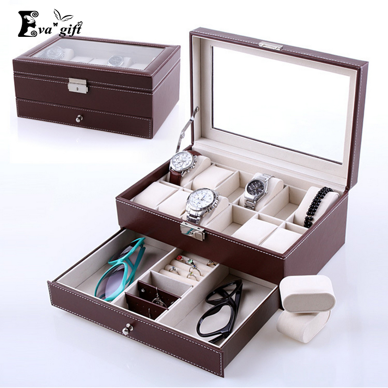 High Grade double layer storage box for watches jewelry ...