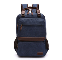 ETN BAG 050416 Good Quality Unisex Women Men Small Canvas Backpack Student Schoolbag