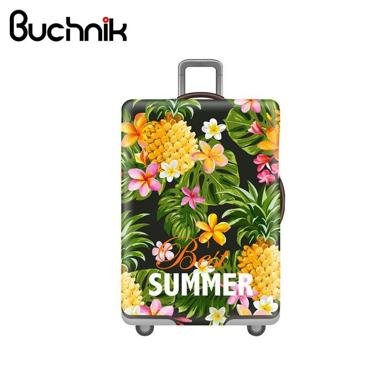 Hawaiian Style Luggage Cover Tropical Fruit Elastic Trolley Case Women's Men's Suitcase Protective Case Accessories Supplies недорго, оригинальная цена