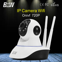 BW Wireless Wifi HD 720P Mini Dome IP Camera P2P Network Security CCTV Automatic Sensor Alarm
