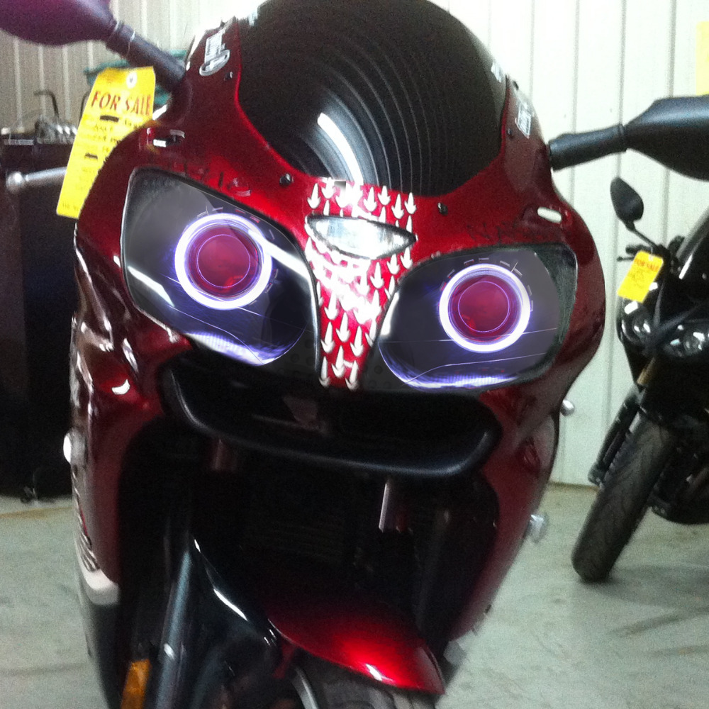 KT Headlight for Kawasaki Ninja ZX9R ZX 9R 2000 2003 LED Halo Eye Red Demon  Eye Motorcycle HID Projector Assembly 2001 2002 on Aliexpress.com | Alibaba  ...