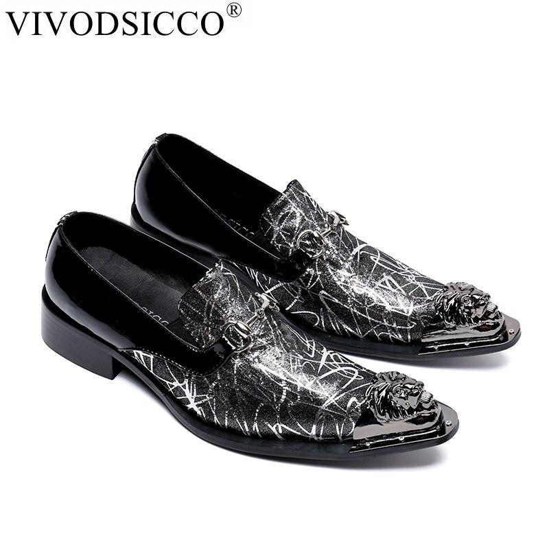 Oficina Genuino Puntiagudo Formal Del As Hombres Negocios Pic Zapatos Metal Italiano Dedos Pies Los Cuero Vivodsicco Boda Pie Vestir De Dedo Moda 8qvWHO