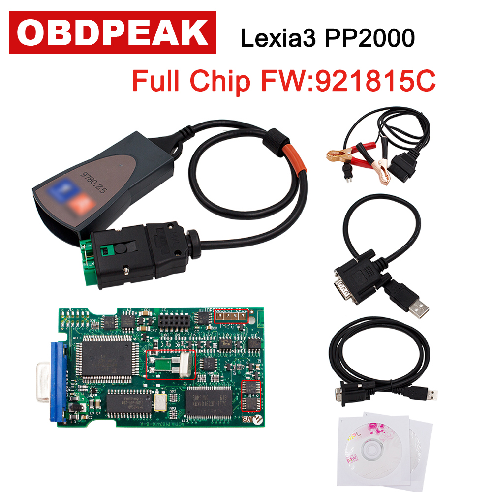 Diagbox V7.83 lexia3 with 921815C Firmware Lexia3 PP2000 V48/V25 Lexia 3 lexia-3 For Citroen Peugeot diagnostic-tool free ship цена