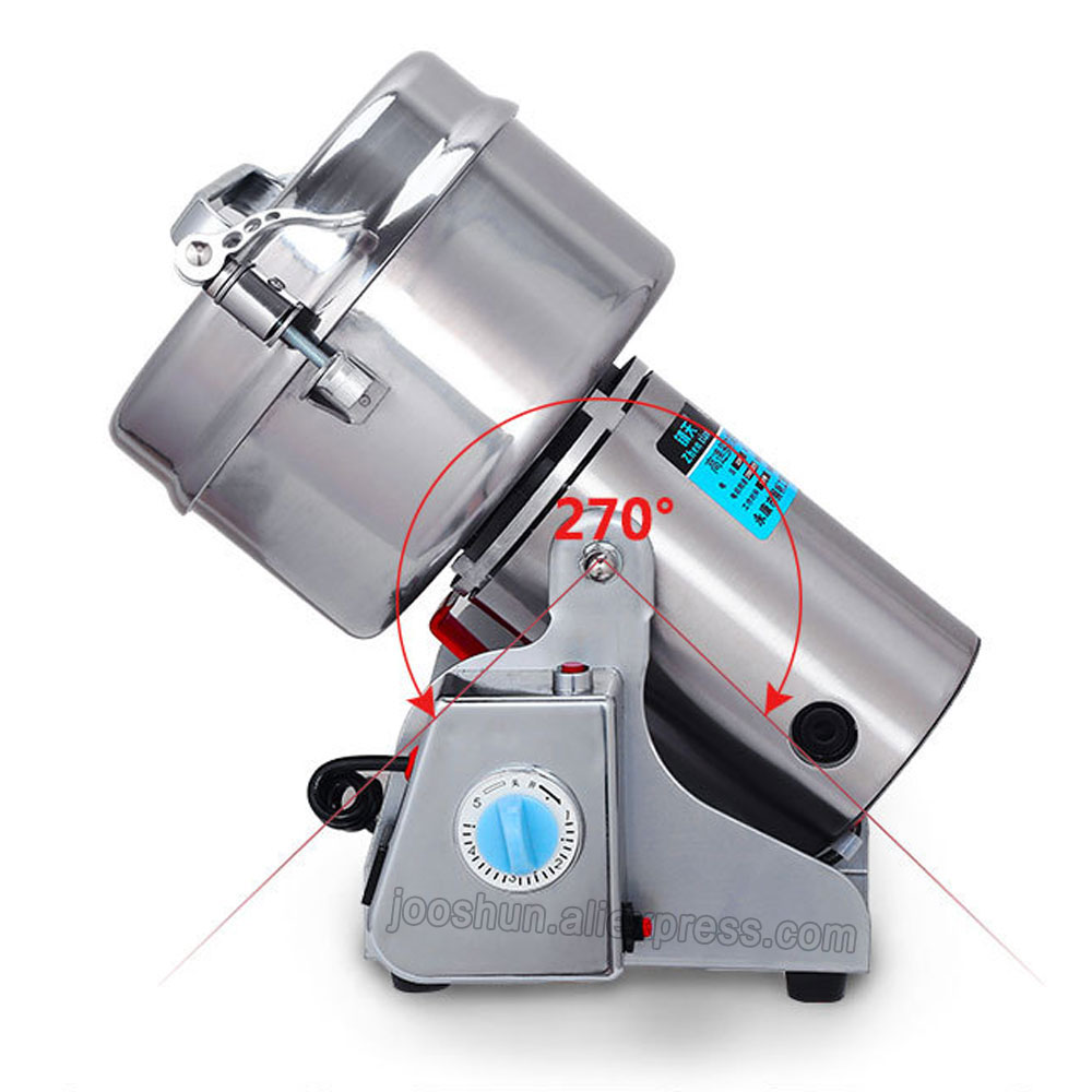 2000G Swing Type Full Stainless Steel Herb Grinder/ Food Powder Grinding Machine/ Coffee Grinder,Household Electric Flour Mill 1000g swing food grinder milling machine small superfine powder machine for coffee soybean herb sauce grain crops