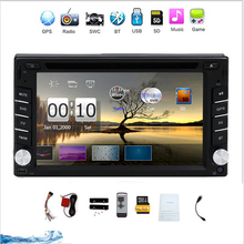 "New Arrival Double 2 Din 6.2""inch Car Radio Player Support Bluetooth Car GPS navigation DVD Audio Player Free map"