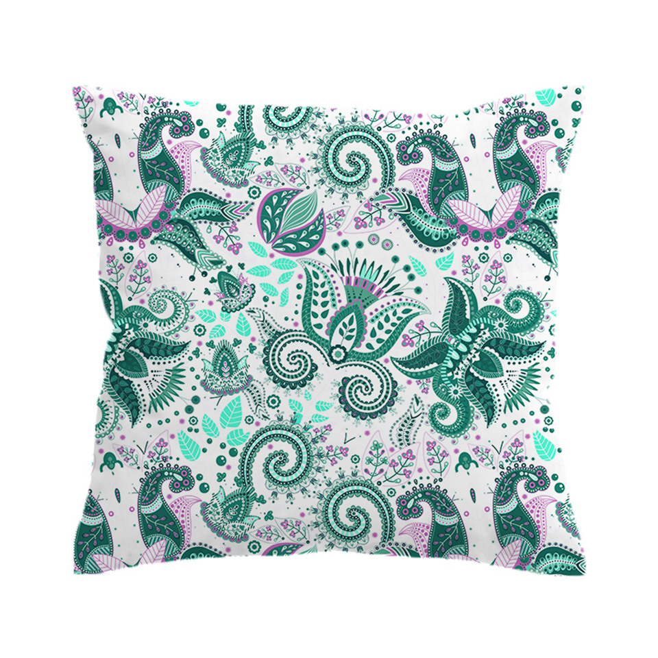 Sofa Outlet Paisley Us 6 46 Beddingoutlet Paisley Cushion Cover Green Floral Pillowcase Sofa Bed Throw Cover Microfiber Decorative Pillow Cover 45x45cm In Cushion Cover
