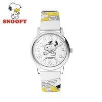Snoopy Crianças Assistem Crianças Assistir Homens Relógios para As Mulheres Senhoras Pulseira Relógio Feminino Pulseira de Couro Genuíno Da Marca de Moda Dos Desenhos Animados Presente