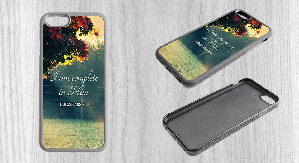 103386eeed J am Complete in him Colossians Mobile Case Cover Accessories Back ...