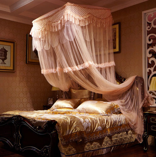 Light Pink Luxury Decorative Dome Bedding Netting Canopy All Sizes - 3