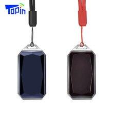 Yeni Ürünler IP67 Su Geçirmez Moda Taş Kolye GSM AGPS Wifi LBS SOS mini gps takip cihazı Bulucu Çocuklar için Öğrenci Araba