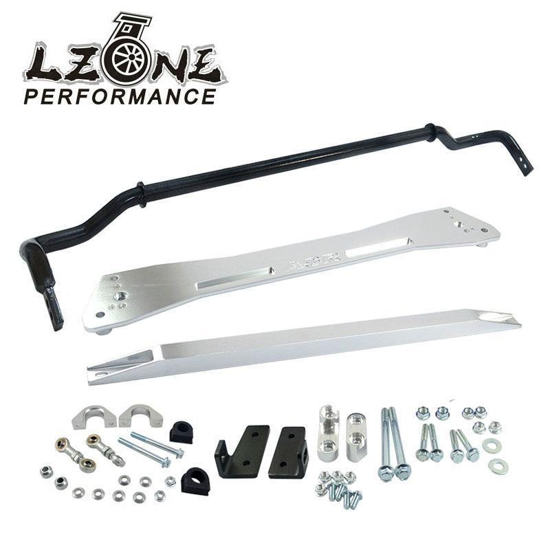 ФОТО LZONE- NEW SWAY BAR FOR HONDA 92-95 EG SUB FRAME+LOWER TIE BAR+24MM SWAY BAR FOR CIVIC INTEGRA 1994-2001 JR1013+SBG11S+TB41S