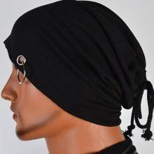 winter style Men's Skullies Beanies Hat Cap Men casual Outdoor fashion cotton Turtleneck Male Wind Hip Hop hats For men black