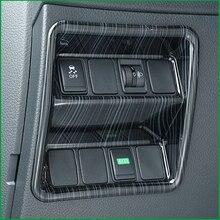 Para Nissan Qashqai J11 LHD 2015-2018 estilo Do Carro Interior do Off Botões Tampa Do interruptor Do Farol cobertura para Carcaça guarnição Adesivos